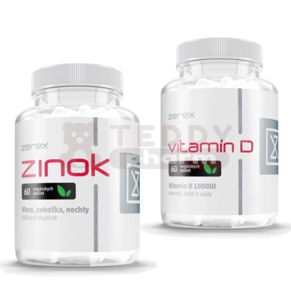 ZEREX Vitamin D 60 Tbl. + Zink 60 Tbl.