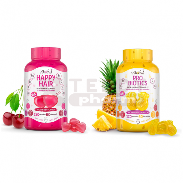 VITAFUL Fruchtgummi Probiotics + Happy Hair