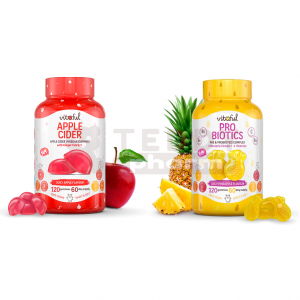 VITAFUL Fruchtgummi Apple Cider Apfelessig + Probiotics