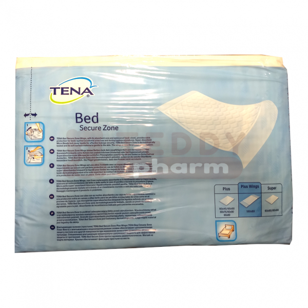 TENA BED plus wings 80×180 cm 20 Stk. back