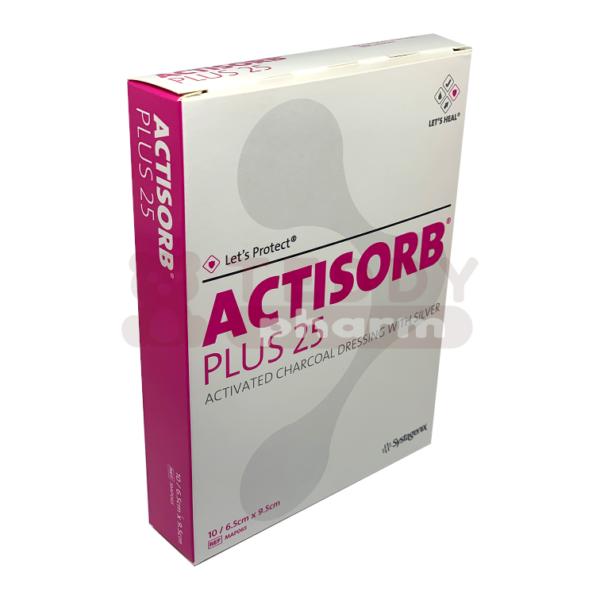 ACTISORB Plus 25 9,5 x 6,5 cm 10 Stk. pack